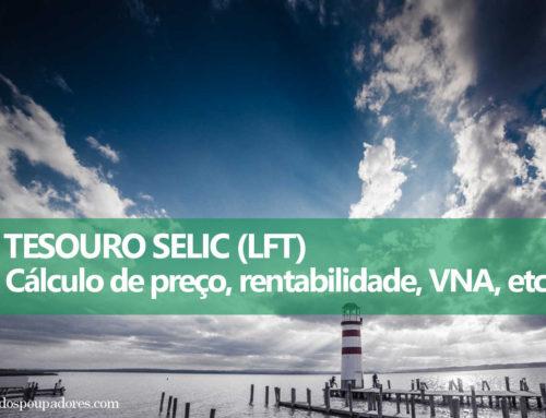 Tesouro Selic (LFT): Como calcular preço, rentabilidade, VNA, etc.