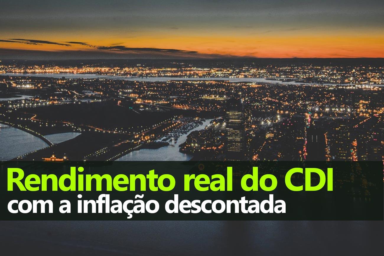 Rentabilidade real do CDI