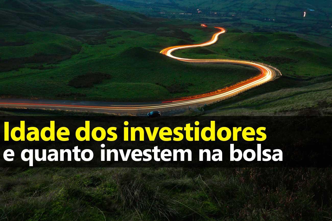 Idade dos investidores brasileiros